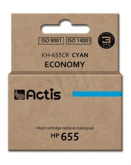 Tusz Actis KH-655CR (do drukarki Hewlett Packard, zamiennik HP 655 CZ110AE standard 12ml cyan Chip)