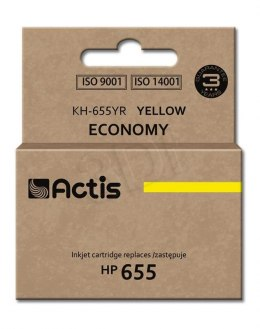 Tusz Actis KH-655YR (do drukarki Hewlett Packard, zamiennik HP 655 CZ112AE standard 12ml yellow Chip)