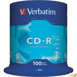 Płyta CD-R VERBATIM CAKE (100) Extra Protection 700MB x52