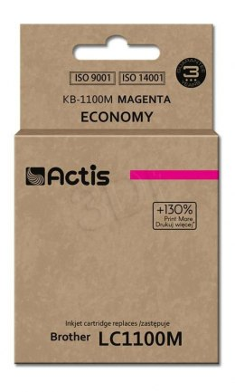 Tusz Actis KB-1100M (do drukarki Brother, zamiennik LC980/LC1100HY/LC65HY standard 12ml magenta)