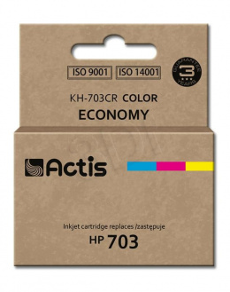 Tusz Actis KH-703CR (do drukarki Hewlett Packard, zamiennik HP 703 CD888AE standard 12ml trójkolorowy)