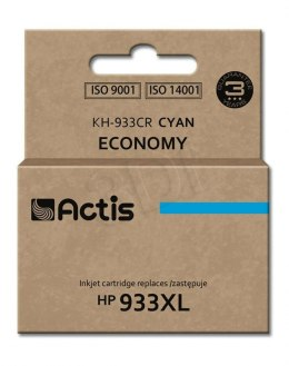 Tusz Actis KH-933CR (do drukarki Hewlett Packard, zamiennik HP 933XL CN054AE standard 13ml cyan Chip)