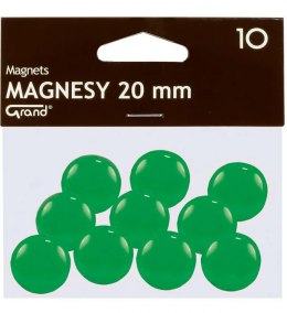 Magnesy 20mm zielone (10) Grand