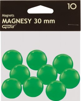 Magnesy 30mm zielone (10) Grand